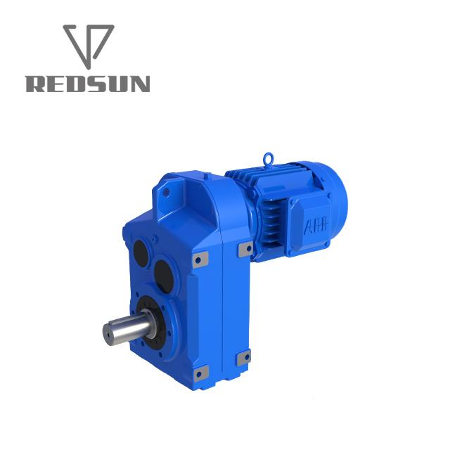 F Series shaft mounted helical plastic single screw extruder gearbox 4