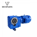 K series helical bevel right angle special reducer for plastic machinery