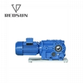 SKA series bevel worm special reducer for plastic machinery 5