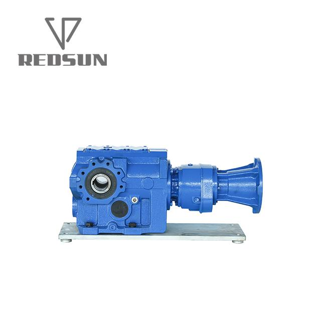 SKA series bevel worm special reducer for plastic machinery 9