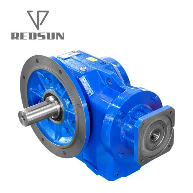 Helical Bevel Geared Motor With Input Solid Shaft