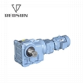 Helical Bevel Geared Motor With Input Solid Shaft 2
