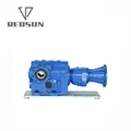 Helical Bevel Geared Motor With Input Solid Shaft 5