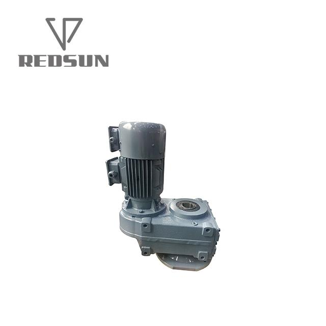 Parallel Helical Transmission Gearbox Reducer With Drive Belt 4