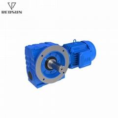實心軸蝸杆電機齒輪箱