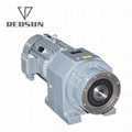 Inline helical gearbox for extruder