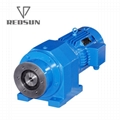 Inline helical gearbox for extruder machine plastic