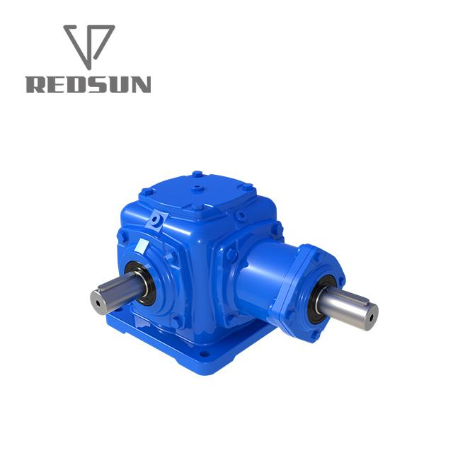T series construction machinery parts gearbox agricultural bevel gearbox 4
