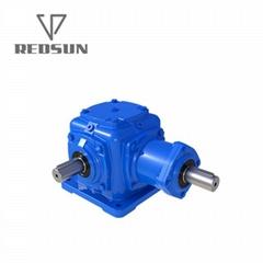T transmission spiral bevel gearbox