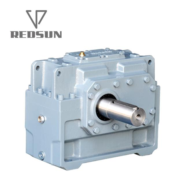 High Torque electric motor reduction bevel gear gearbox 4