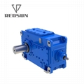 High Torque electric motor reduction bevel gear gearbox