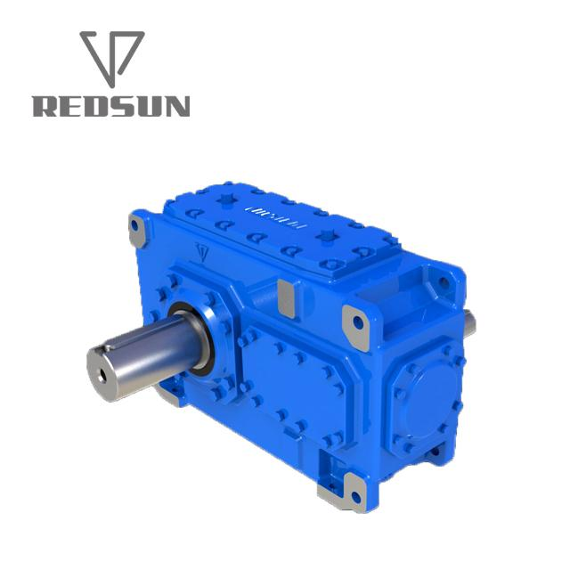 helical bevel HB series gearbox two stages three stages solid shaft 4
