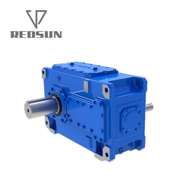 helical bevel HB series gearbox two stages three stages solid shaft 5