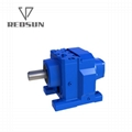 R series helical input solid gearmotor gearbox units reducer