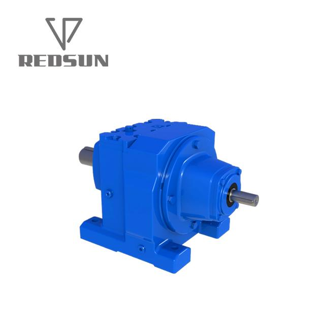 R series helical input solid gearmotor gearbox units reducer 3