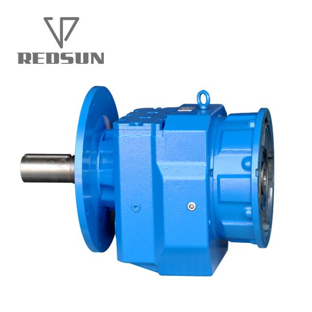 R series helical input solid gearmotor gearbox units reducer 4