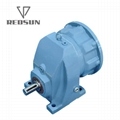 R series single stage helical gearbox gearmotor gear reducer 4