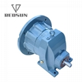 R series single stage helical gearbox gearmotor gear reducer