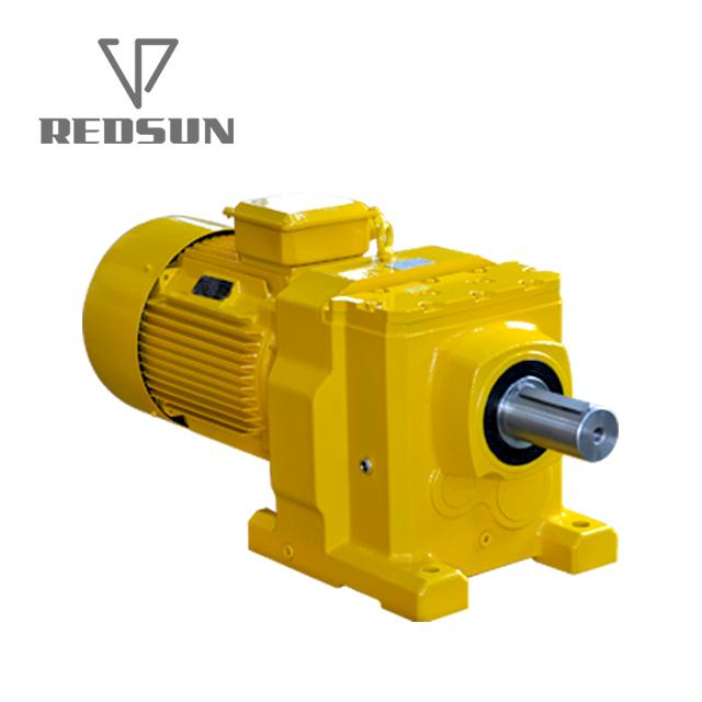 Helical inline gearbox Sew speed reducer foot mount electric motor gear