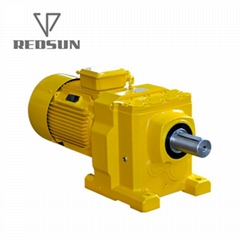 R系列R17-167型高精度低噪音反应釜搅拌器卧式斜齿轮硬齿面减速机