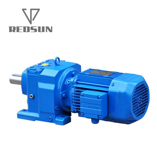 Helical inline gearbox Sew speed reducer foot mount electric motor gear 5
