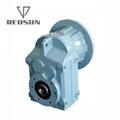 空心軸法蘭安裝輥筒生產線牽引用平行軸斜齒輪減速機 6