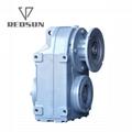 空心軸法蘭安裝輥筒生產線牽引用平行軸斜齒輪減速機 10