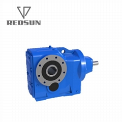 Helical gear K series solid input gearbox with motor
