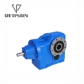 Helical gear K series solid input gearbox with motor 4