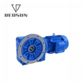 Helical gear K series solid input gearbox with motor 6