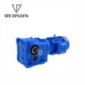 Helical gear K series solid input gearbox with motor 7