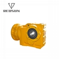 K bevel helical gearbox right angle bevel gear reducer with IEC flange