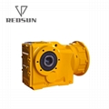 K bevel helical gearbox right angle bevel gear reducer with IEC flange 5