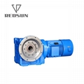 K bevel helical gearbox right angle bevel gear reducer with IEC flange 7