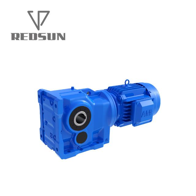K series right angle output helical gear reducer/ gearbox for foam press compact 3