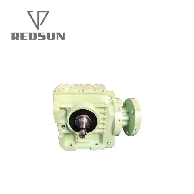 S series helical worm gearbox with solid shaft output 5