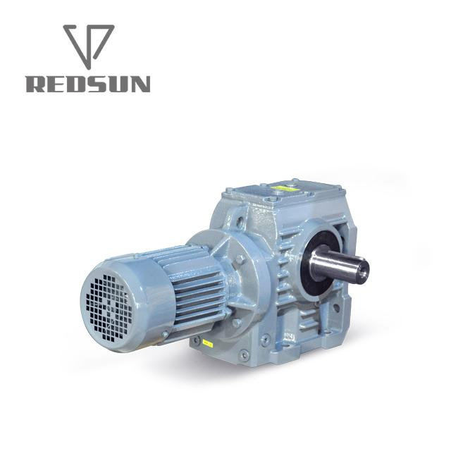 S series helical worm gearbox with solid shaft output 3