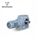 S series helical worm gearbox with solid shaft output