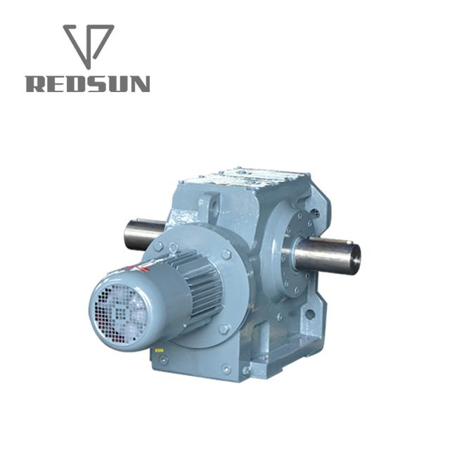 S series helical worm gearbox with solid shaft output 4
