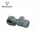 SAF series helical worm hollow shaft gear box with flange output 2