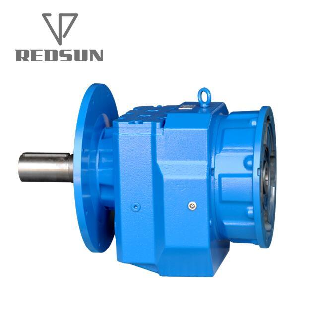 R series helical output flange speed reducers with IEC input flange