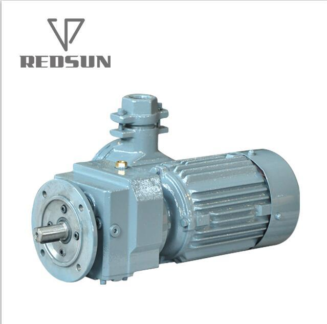 R series helical output flange speed reducers with IEC input flange 7