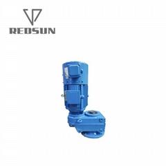 空心軸法蘭安裝輥筒生產線牽引用平行軸斜齒輪減速機