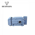High Torque electric motor reduction bevel gear gearbox 8