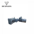 F series parallel helical shaft gearbox with electric gear motor 3