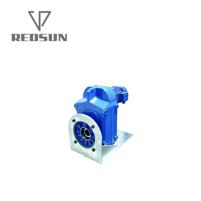 F series parallel helical shaft gearbox with electric gear motor 2