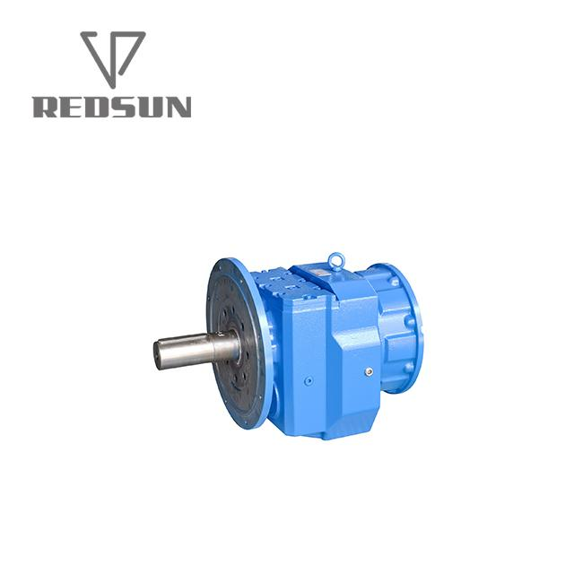 RF vertical type helical gearbox with IEC input flange