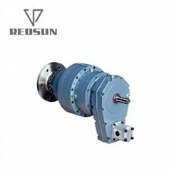 带皮带传动的工业齿轮装置