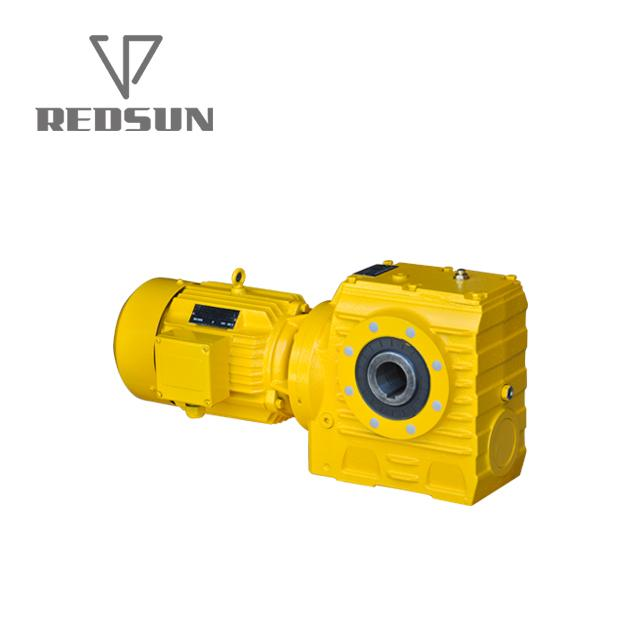 REDSUN SA series helical worm gear reducer with AC motor 2