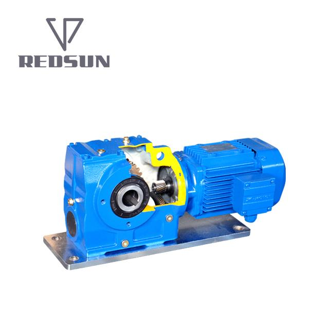 REDSUN SA series helical worm gear reducer with AC motor 1